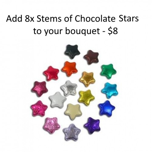 Stems of Chocolate Stars x 8 - $8.00