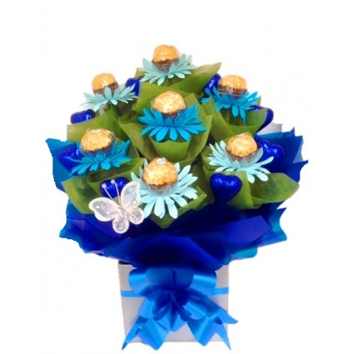 Gerbera Trio - Blue