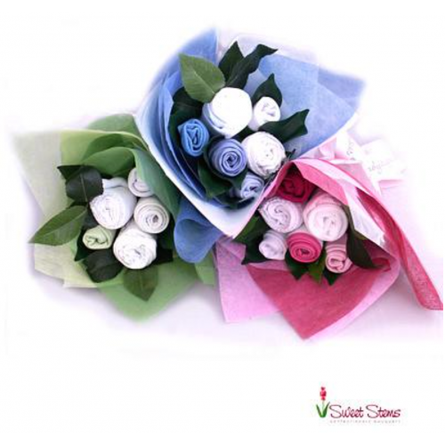 Essentials Baby Bouquet (IN BLUE OR PINK)